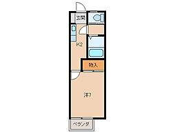 ハイツ山本II[2階]の間取り