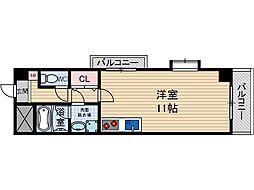 ステーションハイツ南茨木[3階]の間取り