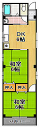 エンボースハイツ[2階]の間取り
