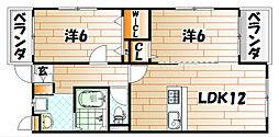 エルティアラ上富野[4階]の間取り
