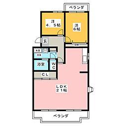 エヌティ坂下[4階]の間取り