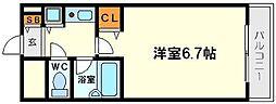 コスモプラザ新大阪[11階]の間取り