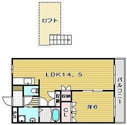 大阪府茨木市島4丁目の賃貸マンションの間取り