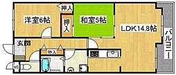 プリムローズ星田[3階]の間取り