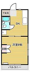 静岡県静岡市葵区瀬名中央1丁目の賃貸マンションの間取り