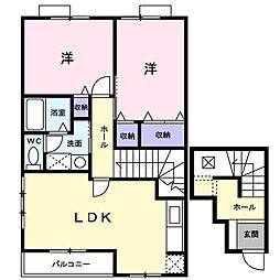 長崎県大村市木場1丁目の賃貸アパートの間取り