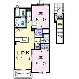 サニーホームズ[2階]の間取り