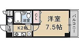 四ノ宮コート[215号室号室]の間取り