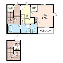 Casa Carina[2階]の間取り