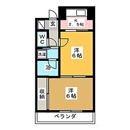 ロイヤルヒルズ成田町[2階]の間取り