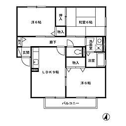 ステージA[2階]の間取り