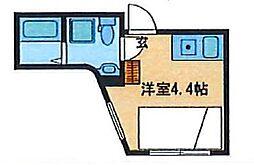 CONTEL KOMAGOME(コンテル コマゴメ) 3階ワンルームの間取り