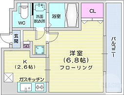 HF仙台レジデンスEAST 10階1Kの間取り