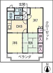 ラ・シャイン[2階]の間取り