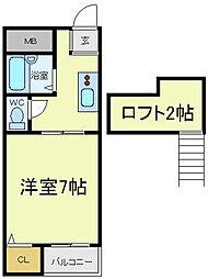ファニーハースト[4階]の間取り