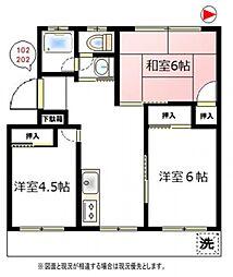 さがみ野東洋マンション[1階]の間取り