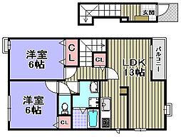グランオリゾンA・B棟[1-202号室]の間取り
