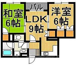 福岡県福岡市東区唐原4丁目の賃貸マンションの間取り