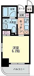 神奈川県川崎市幸区中幸町4丁目の賃貸マンションの間取り