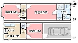 [一戸建] 京都府京都市山科区東野竹田 の賃貸【/】の間取り