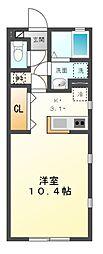 愛知県名古屋市緑区有松町大字有松字往還南の賃貸アパートの間取り