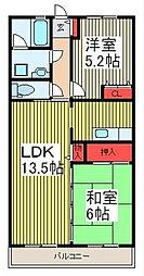 須賀第3ハイツ[204号室]の間取り