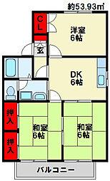 ウイング赤坂A棟[201号室]の間取り