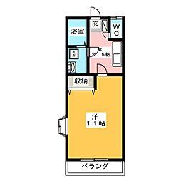 グリーンハイツ高橋 No2[2階]の間取り