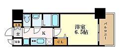 名古屋市営東山線 本陣駅 徒歩5分の賃貸マンション 12階1Kの間取り