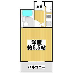 コルナス八戸ノ里[3階]の間取り