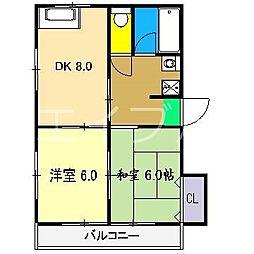 コーポサンライト[2階]の間取り