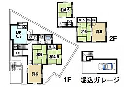 [一戸建] 奈良県奈良市西登美ヶ丘7丁目 の賃貸【奈良県 / 奈良市】の間取り