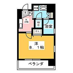 共同ハイツ西大須[8階]の間取り