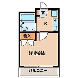 東京都町田市中町3丁目の賃貸マンションの間取り