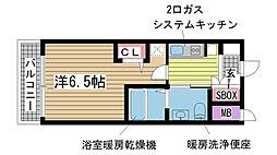 エステムプラザ神戸三宮ルクシア[202号室]の間取り