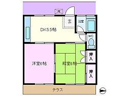 第2山崎コーポ[103号室]の間取り