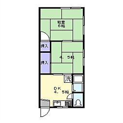 友松荘[2階]の間取り
