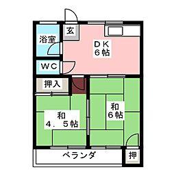 いずみ荘[2階]の間取り