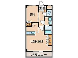 Sun Green Nakano[2階]の間取り