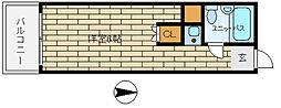 ネオダイキョー三宮[2階]の間取り