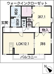 グリーンハイツ井筒[2階]の間取り