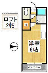 デェイジーI[2階]の間取り