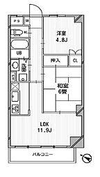 COMODO宮崎台[4階]の間取り