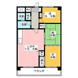 ユニーブル原央[3階]の間取り