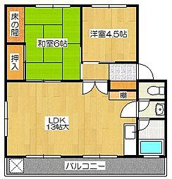 サイトウマンション[402号室]の間取り