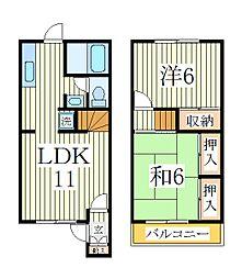 ドミ・リヴェール1[1階]の間取り
