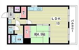 コアロード桃山台[4階]の間取り