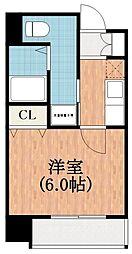 大阪府大阪市阿倍野区昭和町1の賃貸マンションの間取り