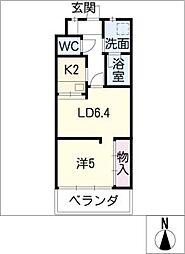 U・TOPIA HILLS[4階]の間取り