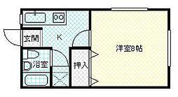 コーポ松崎[201号室号室]の間取り